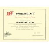 Fire Drill certificate